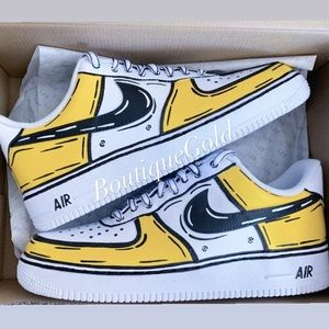 Nike Air Force 1 Cartoon Pop Art Sketch CUSTOMS